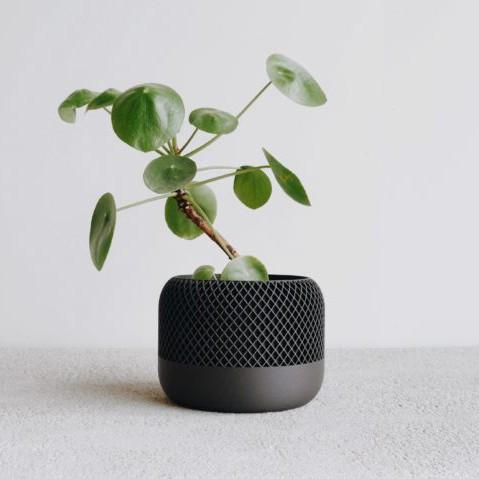 Topf Apple schwarz